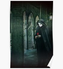 Venice, Carnival memories, masked man with rose Poster