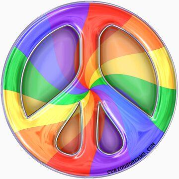 Rainbow Peace by Curious