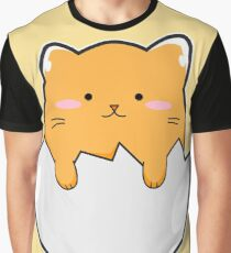 Yellow Cat Egg Graphic T-Shirt