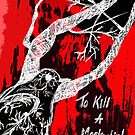 To Kill A Mockingbird - BLACK, WHITE & RED  by AarathiS