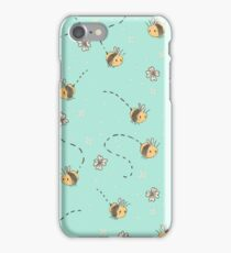 Spring Bees pattern iPhone Case/Skin