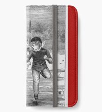 Ice skating on the pond iPhone Wallet/Case/Skin