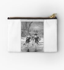 Ice skating on the pond Studio Pouch