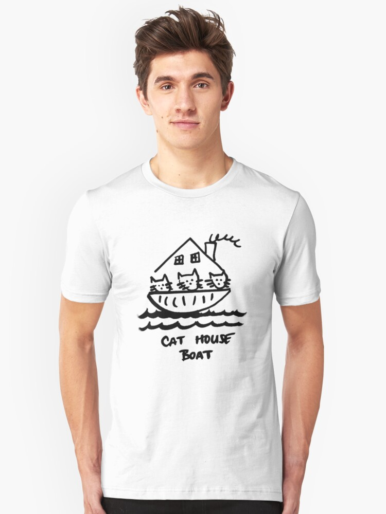 Cat House Boat (Version 2) Unisex T-Shirt Front