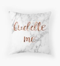 Cuddle me - rose gold marble Throw Pillow