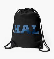 Deep Blue Drawstring Bag