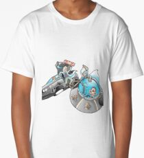 Rick and Morty/Back to the future Long T-Shirt