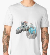 Rick and Morty/Back to the future Men's Premium T-Shirt