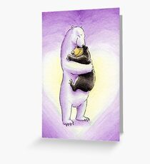 Bear Hugs (Valentine's Pink) Greeting Card