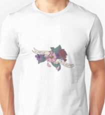 """Move, I'm Gay"" floral banner T-Shirt"