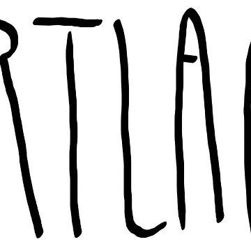 Portland - City Scroll by KirkParrish