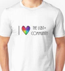 i love the lgbt+ community T-Shirt