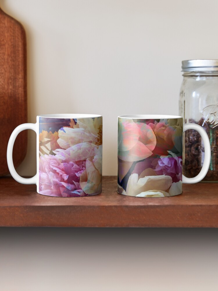 Alternate view of Peonies  Mug