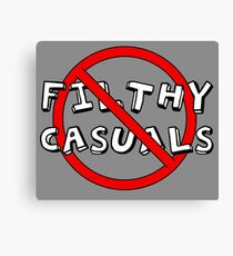 No Filthy Casuals Allowed - Gamer Geek Meme Canvas Print