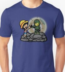 Luffy & Master Chief Unisex T-Shirt