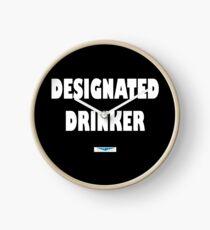 designated drinker - white Clock