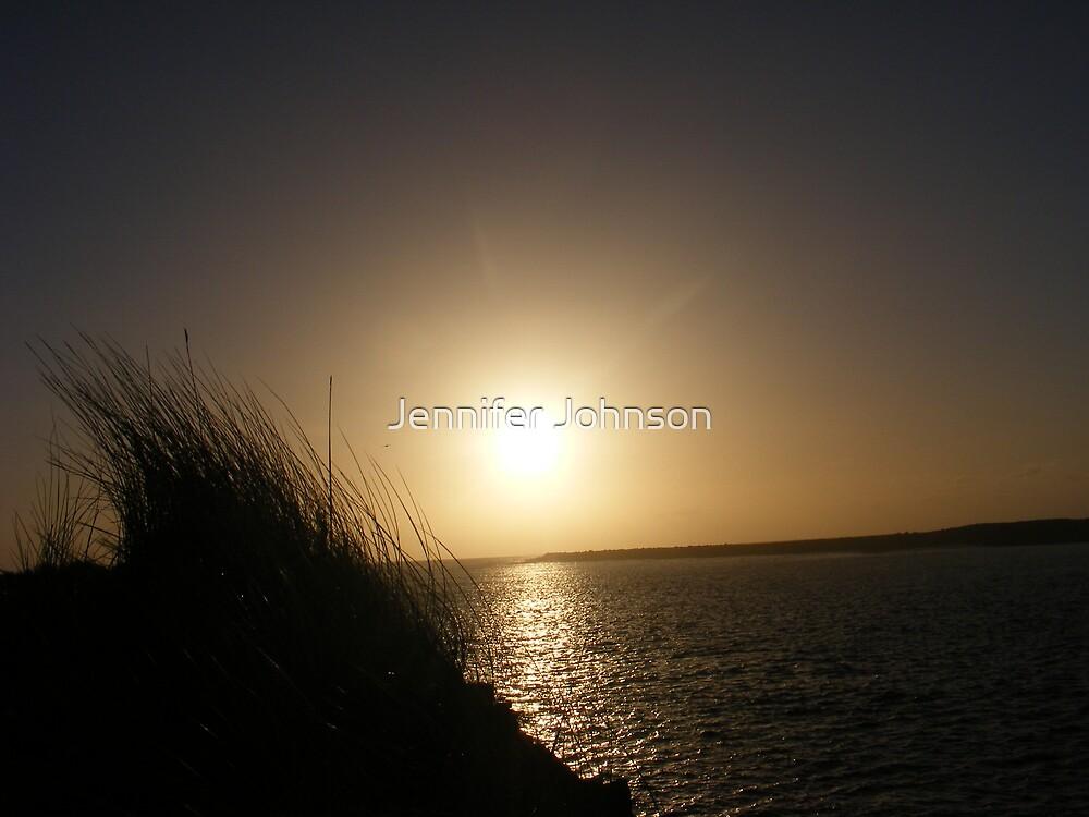 Newport sunset by Jennifer Johnson