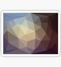 Brown and Blue Triangles Sticker