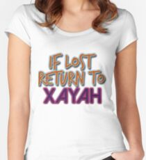 If lost return to Xayah Women's Fitted Scoop T-Shirt