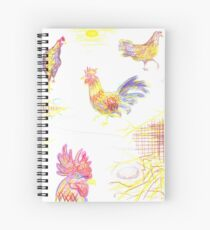 Roosters And Hens #1 Spiral Notebook