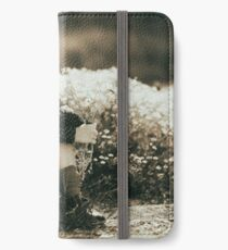 Cute girl with flowers field iPhone Wallet/Case/Skin