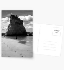 Lone walker in the sand Postcards
