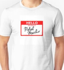 Ralph Macchio Namensschild Slim Fit T-Shirt