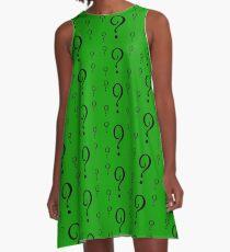 Riddle T-Shirt - Question Mark Sticker A-Line Dress