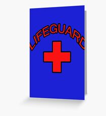 Red Lifeguard Clothing Tee Greeting Card