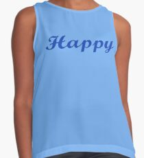 I Am So Happy T-Shirt Happiness Sticker Contrast Tank