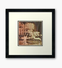 modernist photo collage Framed Print