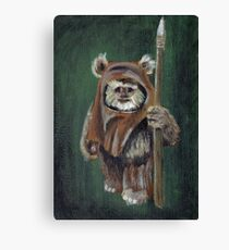 Wicket the Ewok Canvas Print