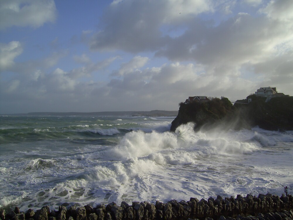 Storm on Towan Beach, Newquay by Mark  Florey