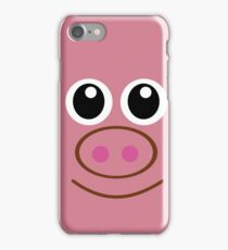 CRITTER COMFORTS-PIG iPhone Case/Skin