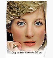Princess Diana - Celebrity (Oil Paint Art) Poster
