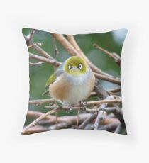 Aww...Don't Be Sad... We Will Be Back - Silver-Eye - NZ Throw Pillow