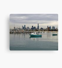 Melbourne from St Kilda Pier Canvas Print
