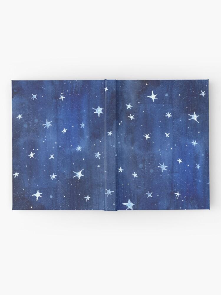 Alternative Ansicht von Stern-Aquarell-Illustration Notizbuch