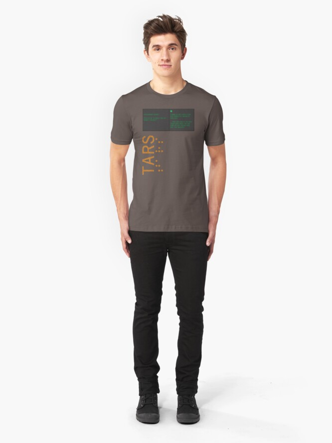 Alternate view of TARS: Slaves for My Robot Colony Slim Fit T-Shirt