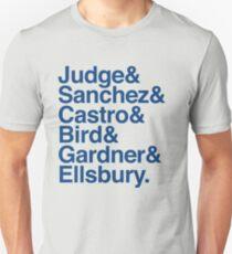Yankees 2017 Roster Helvetica List  T-Shirt
