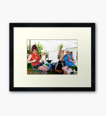 Trailer Park Sisters Framed Print