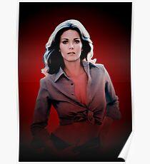 Lynda Carter - Celebrity (Oil Paint Art) Modern Style Poster