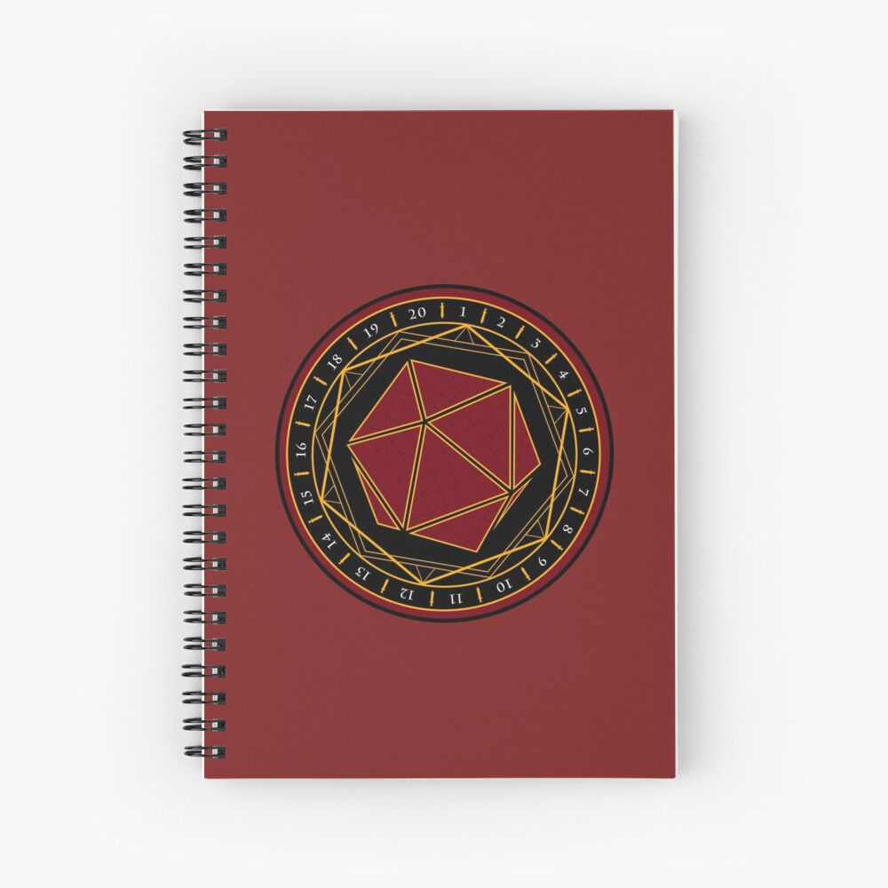 Twenty Sides of Fate Spiral Notebook