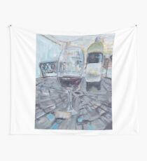 Vineyard wine table by PaintSarahPaint Wall Tapestry
