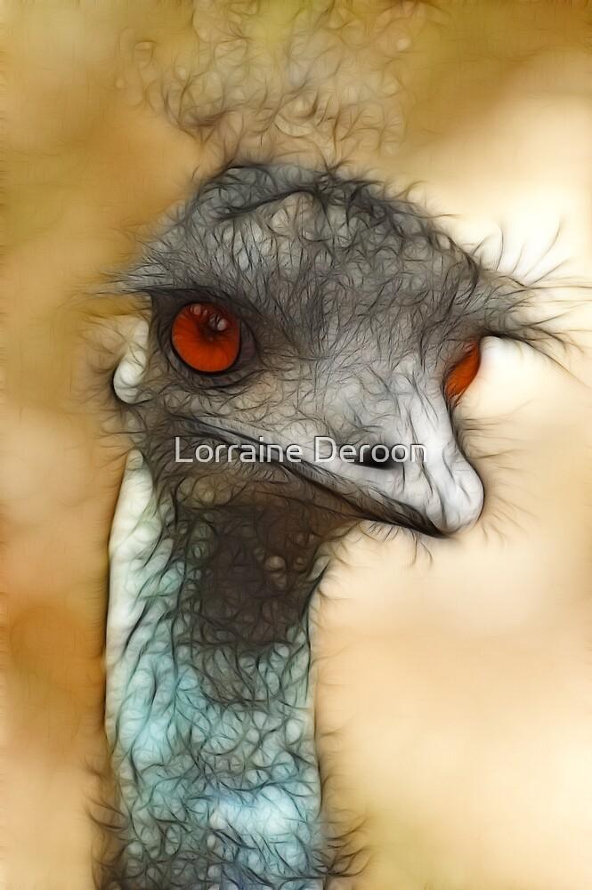 Quot Emu Eyes Quot By Lorraine Deroon Redbubble
