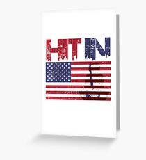 HIT IN USA Greeting Card