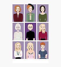 Gillian Anderson - Characters Photographic Print