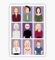 Gillian Anderson - Characters Sticker