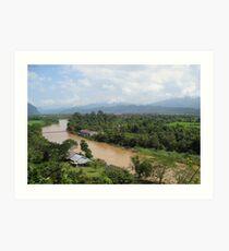 Nam Song River Art Print