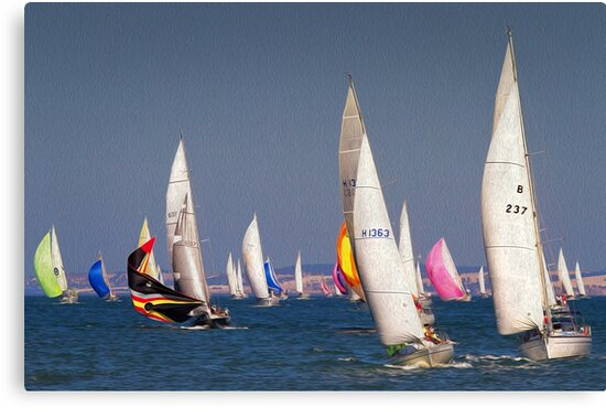 0204 Sailing Corio Bay by Hans Kawitzki
